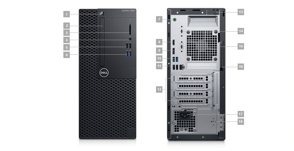 Dell 3060 MT Ports Detail