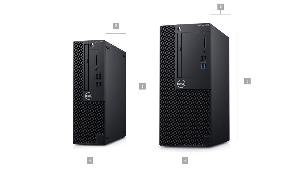 Dell 3060 SFF MT Dimension