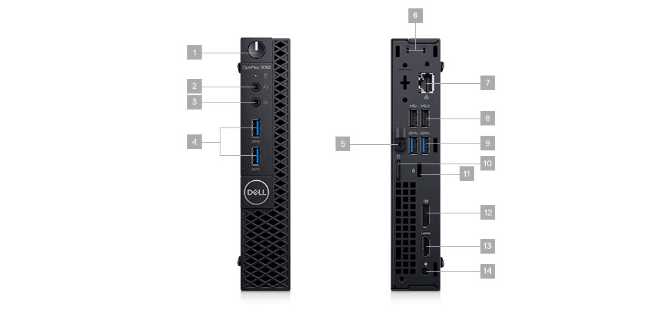 Dell 3060 Micro Ports Detail