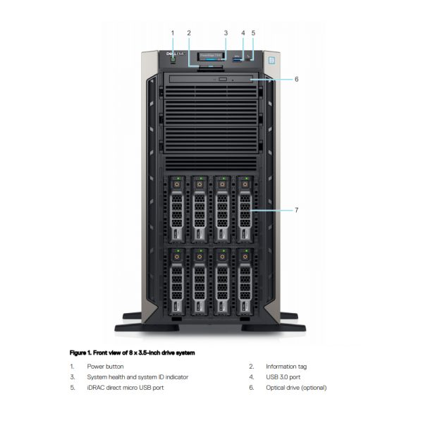 Dell-PowerEdge-T340-Front-Detail